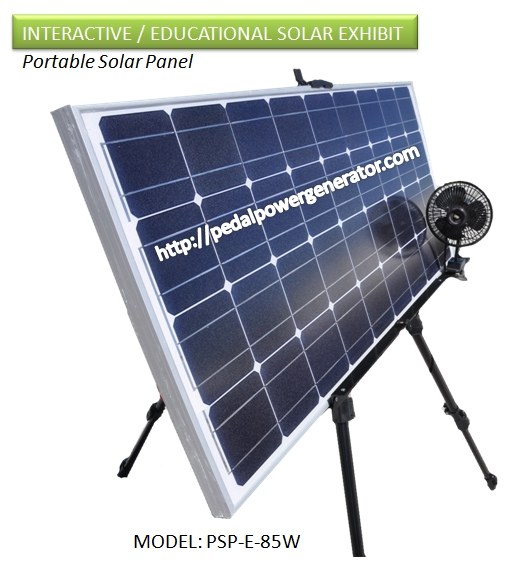 event educational science museum display for solar panel