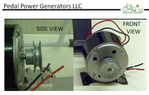 Generator Dynamo DC Permanent Magnet Motor with Pulley