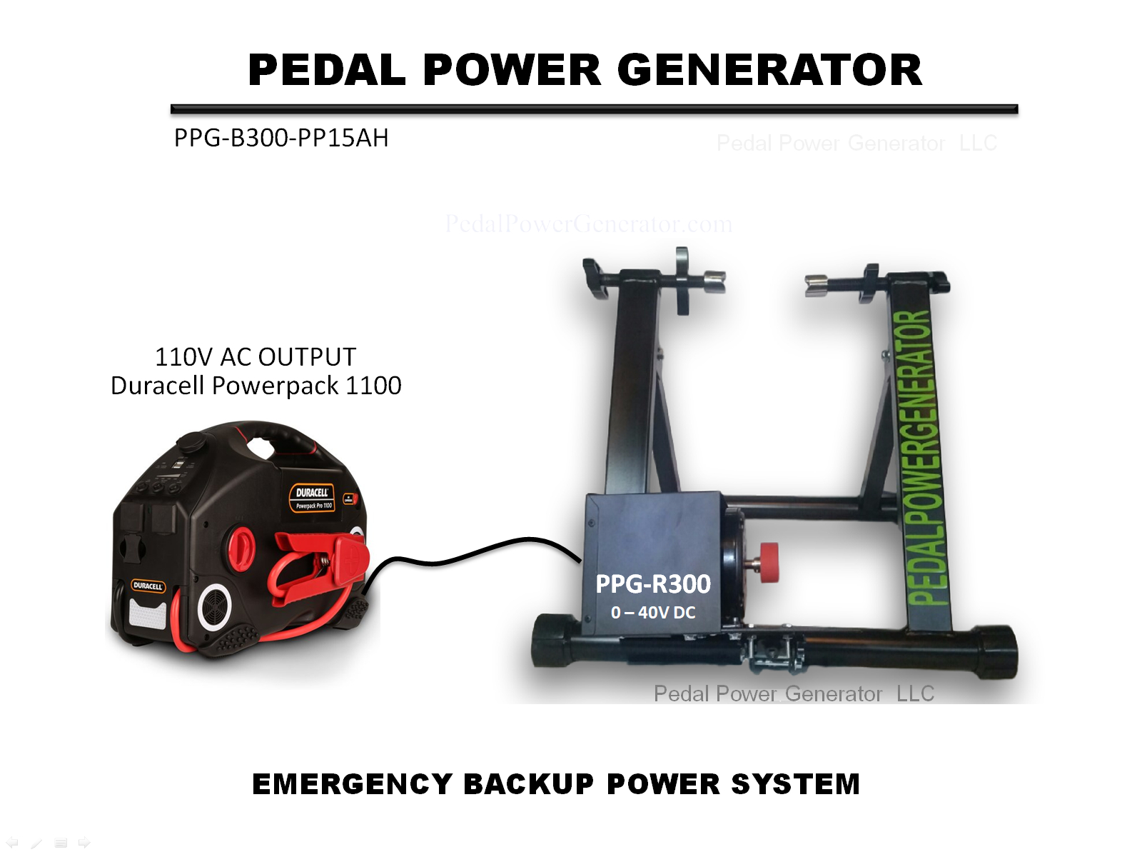 Emergency Pedal Power System Pedal Power Generators