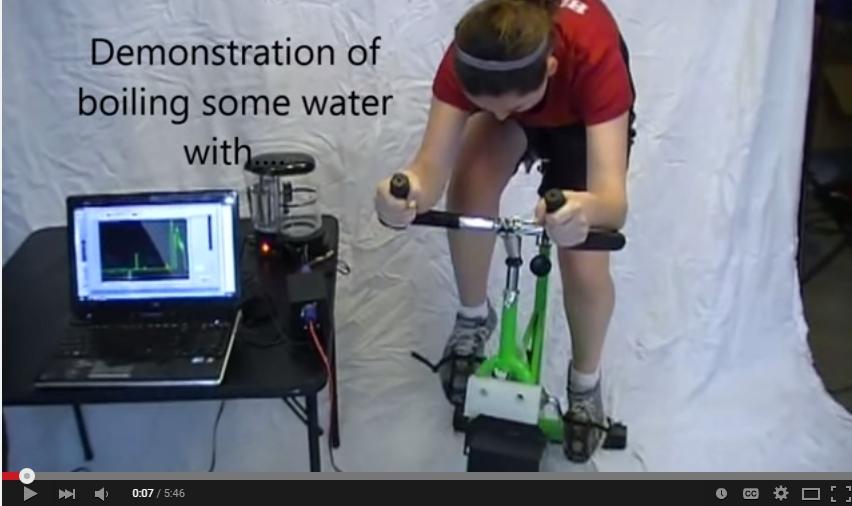 Exercise Bike Generator Video Demonstration