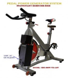Spin Bike DC Generator Stationary Exercise Bike - With Built in regulator
