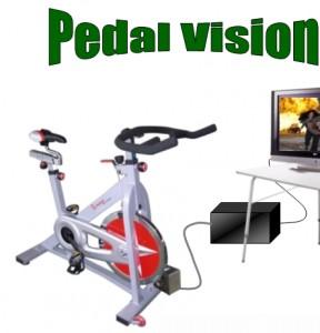 Spin bike 12V generator pedalvision