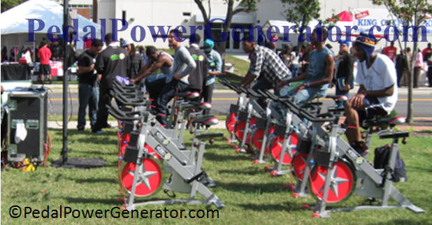 Group exercise bike generator system