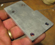 DIY Bicycle Generator Adapter Plate