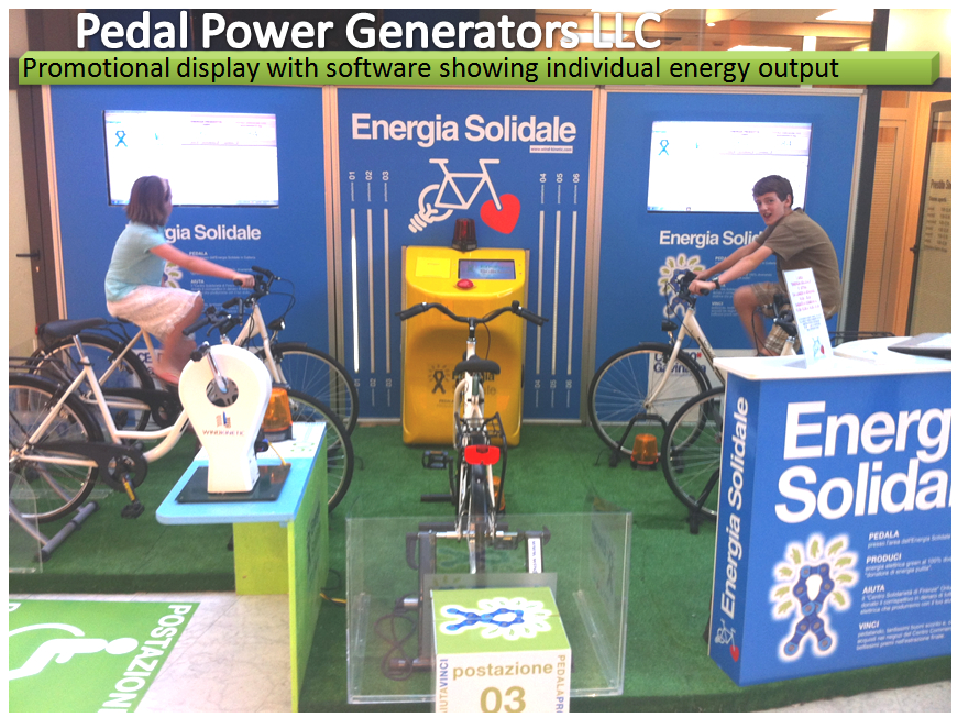 7 Person Bike Generator Display, Florence Italy