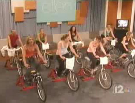 "Bicycle generators on Ellen Degeneres' ""Green"" show."