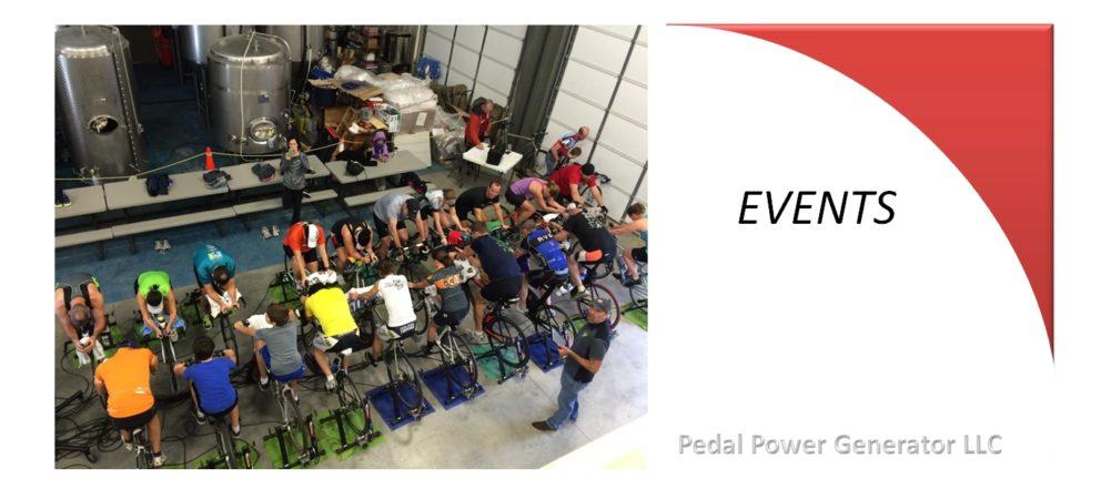 Fund raiser event bike generators at a brewery