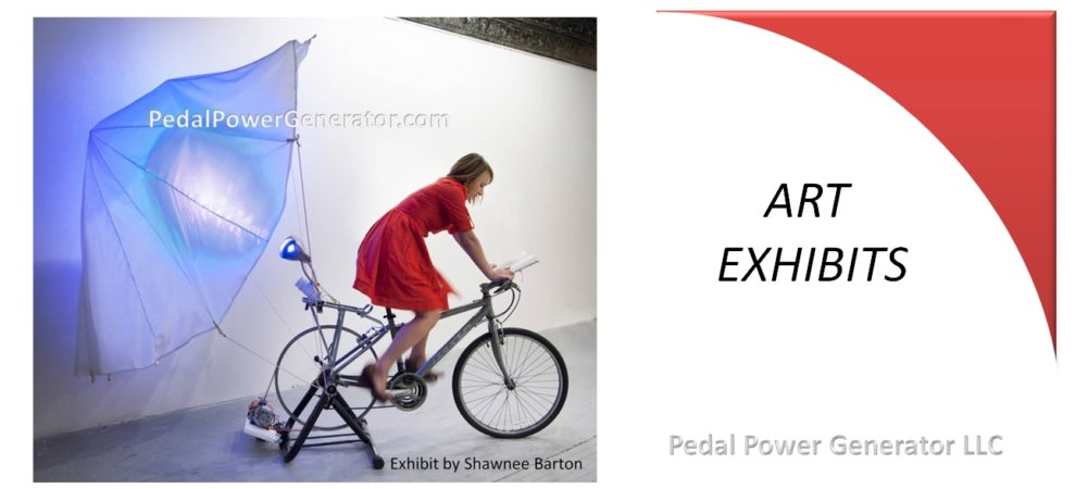 Human powered art exhibit