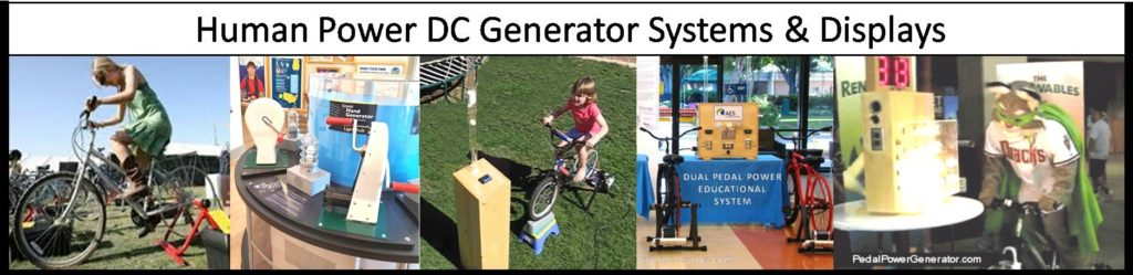Human Power DC Generator Systems